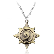 Buy Drop 3D Game Jewelry Hearthstone Heroes Warcraft Anime Pendant Necklace Vintage Bronze Logo Chain Necklace Mens for $1.64 in AliExpress store
