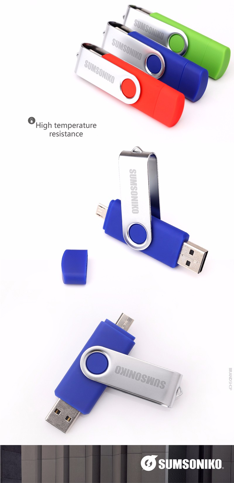 SUMSONIKO USB Flash Sürücü Yüksek Hız USB 2.0 OTG Kalem Sürücü özel Hediye Telefon USB Flash Memory Stick Özel teklif Ücretsiz Gönderim