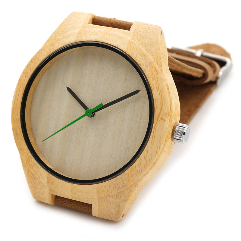 BOBO BIRD Hot Sale japanese miyota 2035 movement wristwatches genuine leather men bamboo wooden watches for men and women