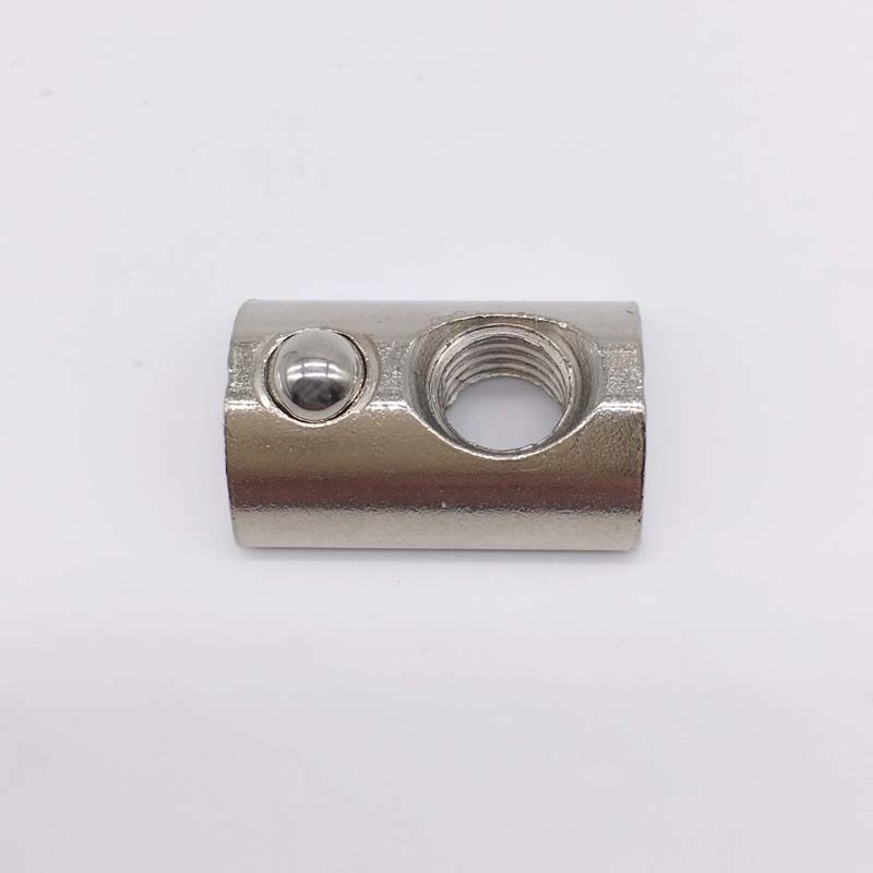 T Slot Nuts M4 Thread With Ball Spring Nut 20 Series T Slot Aluminum Extrusion 100 Pcs<br><br>Aliexpress