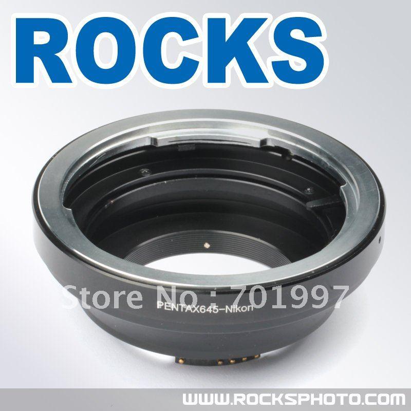 PIXCO AF Confirm Pentax 645 Lens to Nikon F Mount Adapter Ring For D3200 D5100 D7000<br><br>Aliexpress