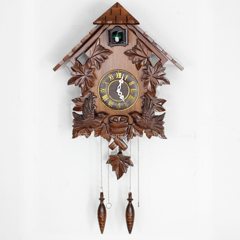 Cuckoo clock cuckoo clock handmade wood sculpture wall clock fashion pendulum clock small house - Cuckoo pendulum wall clock ...