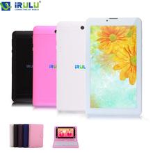 Irulu x2s 7 ''2g 3g phablet dual sim mtk8312 android 4.4 tablet  8 gb dual core dual camera flash gps phone call wifi 2015 nuovo  Hot(China (Mainland))