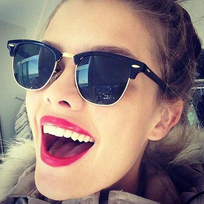 Wayfarer Vintage Sunglasses Men Women 2015 Fashion Mirror Sun Glasses Women Men Retro Eyewear Male Brand Oculos Feminino shades(China (Mainland))