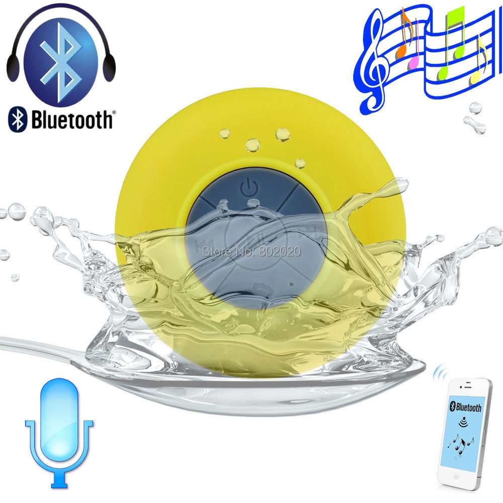 portable subwoofer Waterproof Wireless Bluetooth Speaker Shower Car Handsfree Receive Call & Music Suction Phone Mic - Digitalsources Technology Ltd store