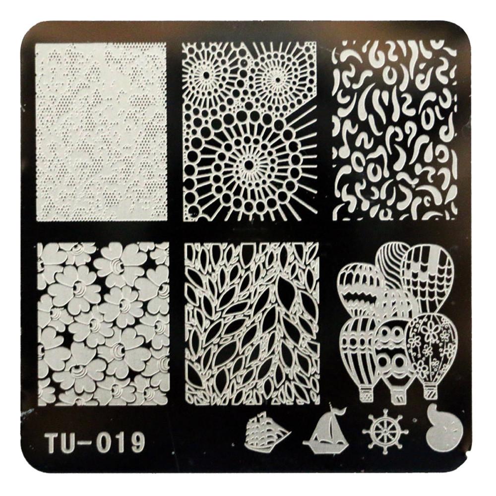 TU-014+TU-019 Nail Art Leaves Hearts DIY Printing Leaves Nail Polish Painted Steel Leave Manicure Template Polish Tools#B716(China (Mainland))