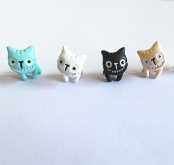 1 пк Harajuku 4 цвета милый Muzzy Cat стержень уха женщина ювелирные изделия леди пирсинг серьги подарок