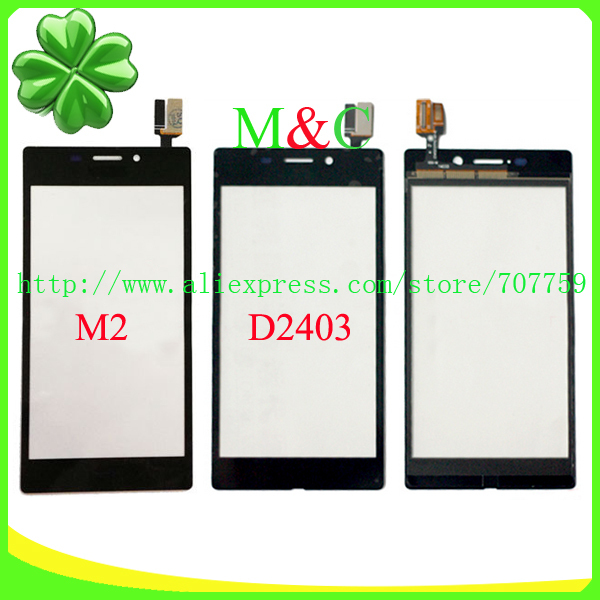 Original Touch Screen For Sony Xperia M2 Aqua D2403 With Digitizer Outer Glass Lens Free Shipping