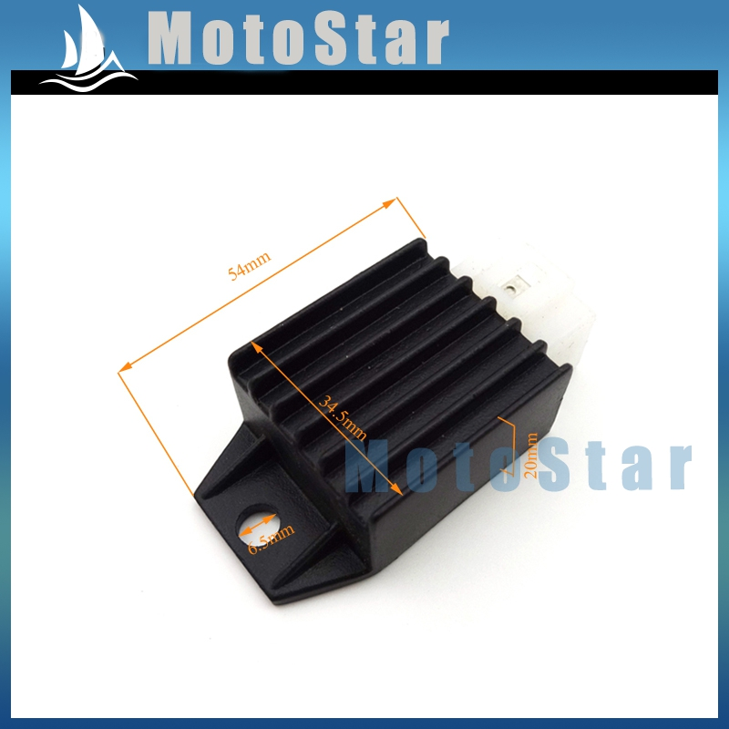 Voltage Regulator Rectifier 4 Pin 12V For 50cc 70cc 90cc 110cc 125cc 150cc Pit Dirt Bike Motorcycle ATV Quad Buggy Scooter(China (Mainland))