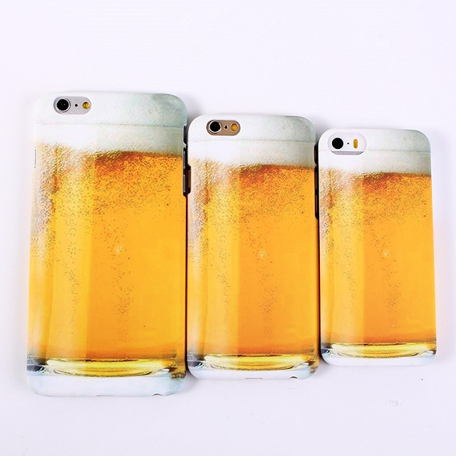 2015 New Personality Alcohol Beer Glass Pattern Plastic Case for iPhone 5 5S Novetly Phone Case Cover(China (Mainland))