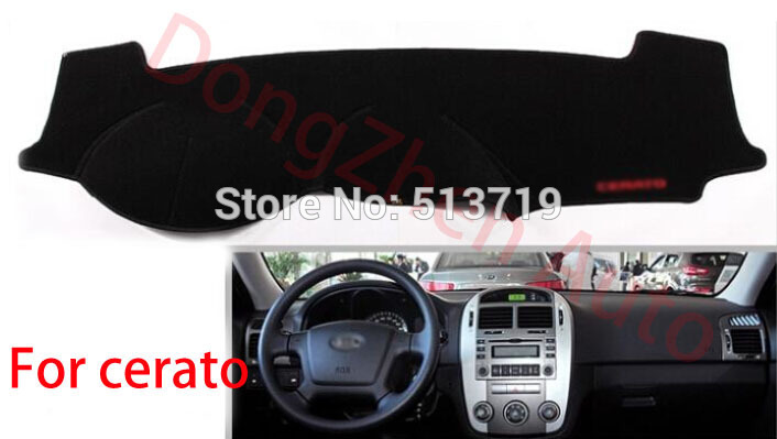 Car dashboard Avoid light pad Instrument platform desk cover Mats Carpets Auto accessories For kia cerato all от Aliexpress INT
