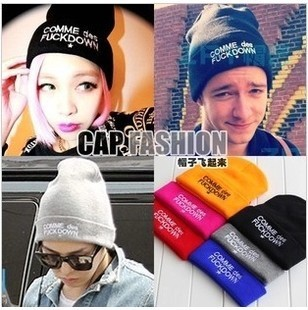2015 Fashion SSUR COMME DES FUCKDOWN Hats Knitting Hip-hop Style Men and Women Beanies Caps Winter Head Accessories(China (Mainland))