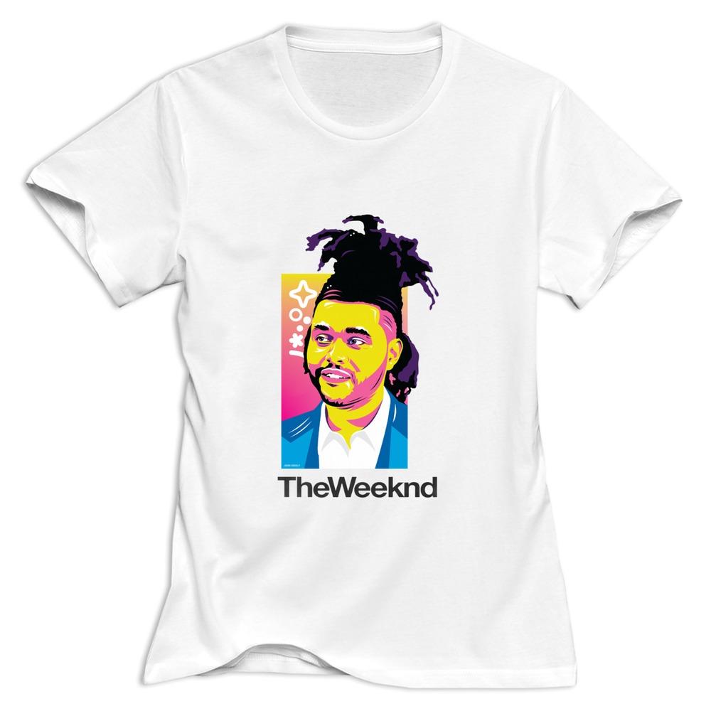 Tops The Weeknd Logo T Shirt Punk Organic Cotton Women