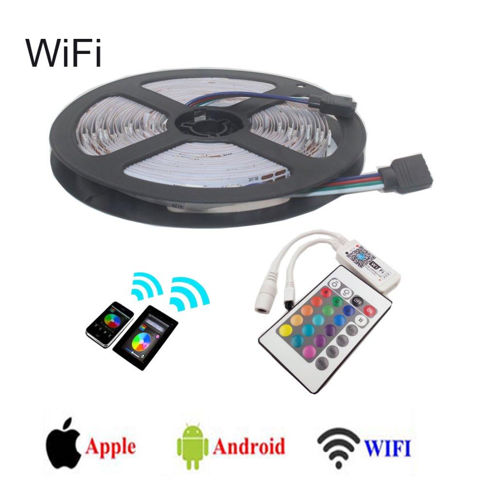 WIFI RGB LED Controller + 5M 5050 RGB LED Strip 30LED/m 5M/Lot,RGB 5050 LED Light Tape(China (Mainland))