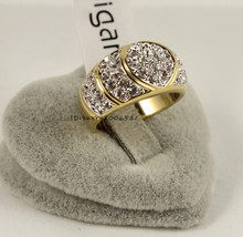 Classic Wedding Lovers Yellow Gold GP Crystals Ring size 7.5/8.5 18k yellow gold filled(China (Mainland))