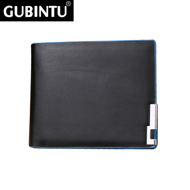 PU Ultra-thin Coin Purse Men handbags business card holder for men High Quality 2016 new fashion Men Wallet carteira masculina(China (Mainland))