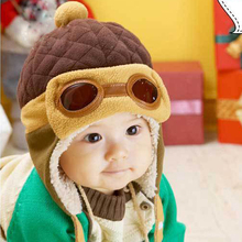 Toddlers Warm Cap Hat Beanie Cool Baby Boy Girl Kids Infant Winter Pilot Cap 4 Colors(China (Mainland))