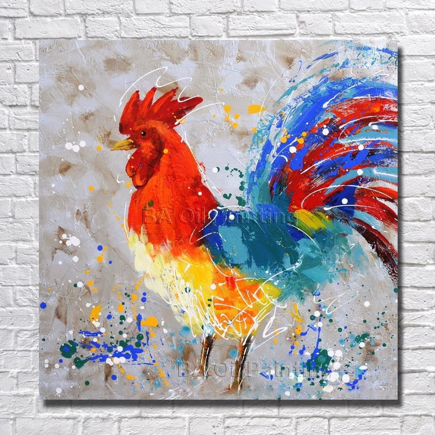 Popular chicken oil paintings buy cheap chicken oil for Buy cheap canvas art