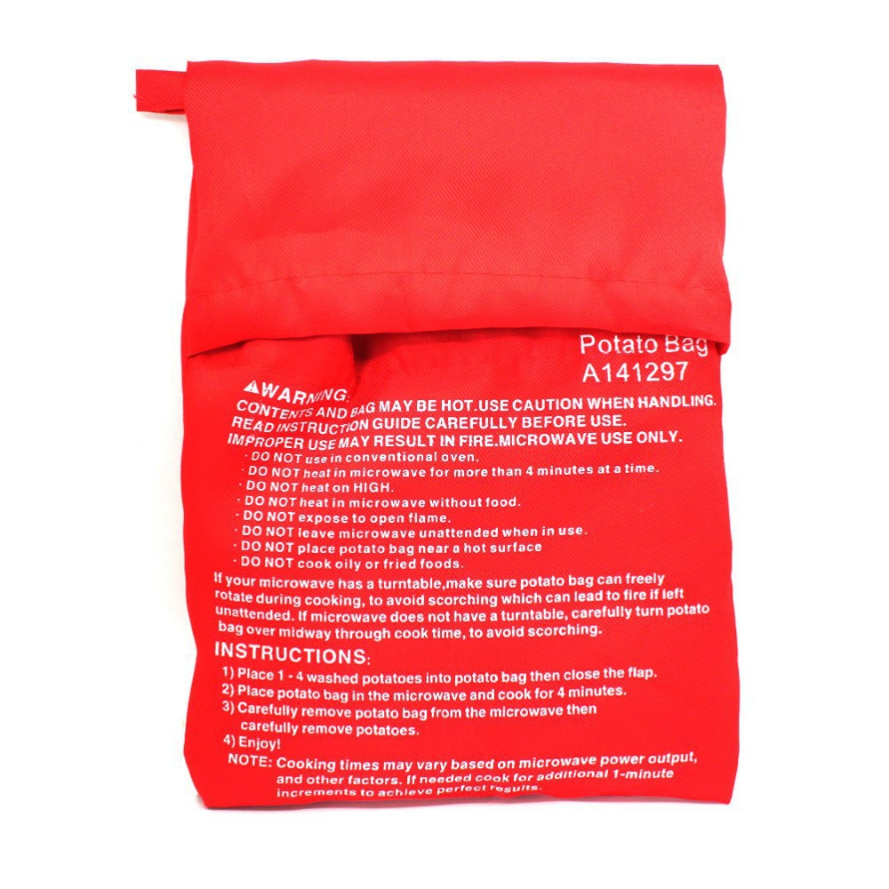 2pcs/lot Red Potato Bag Microwave Potato Cooker Pe...