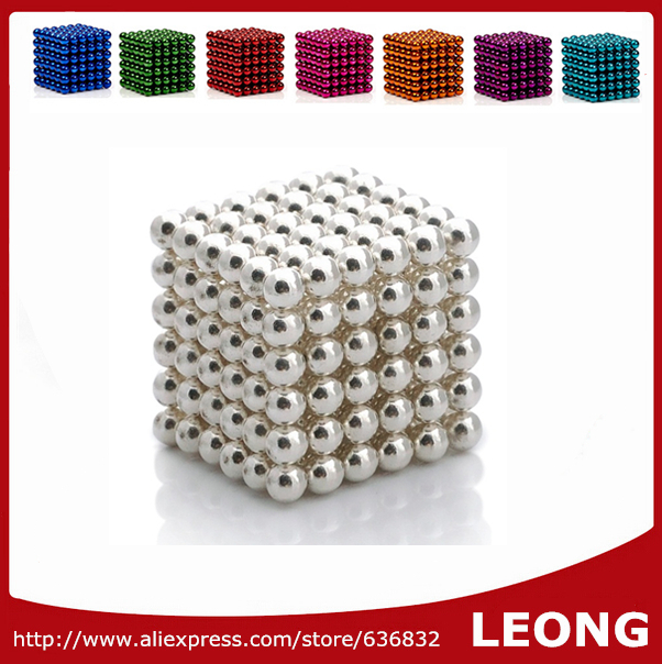 2015 Hot Kids Toy Buckyballs Neocube 5mm 216pcs Magic Cube Puzzle Magnet Magnetic Balls cubo magico For Children with Metal Box(China (Mainland))