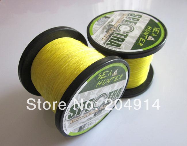 Free shipping yellow color 1pc 500m 50lb 60lb 80lb 100lb for 50 lb braided fishing line