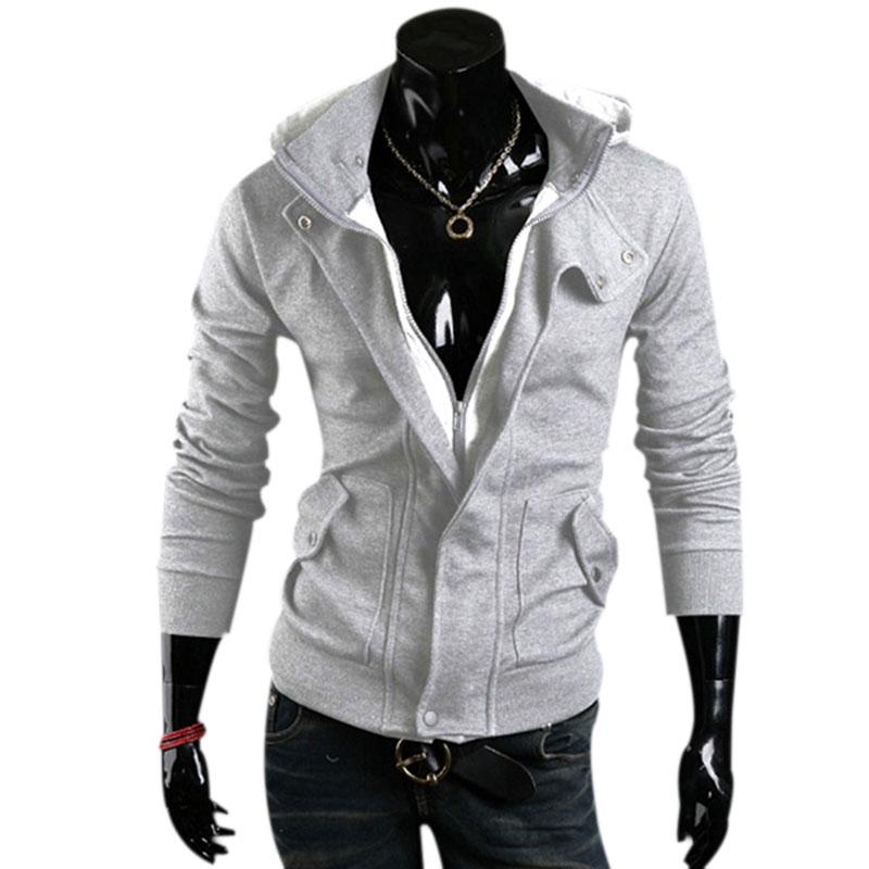 2017 Autumn New Fashion Brand Clothing Sweatshirt Men Zipper Hoodies Men 3 Colors Hooded Tracksuit Men Slim Sudaderas Hombre