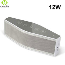 Cowin Mini Bluetooth Wireless Portable Stereo Speakers Subwoofer Touch Screen Amplifier for Phone Computer 3.5mm Mic