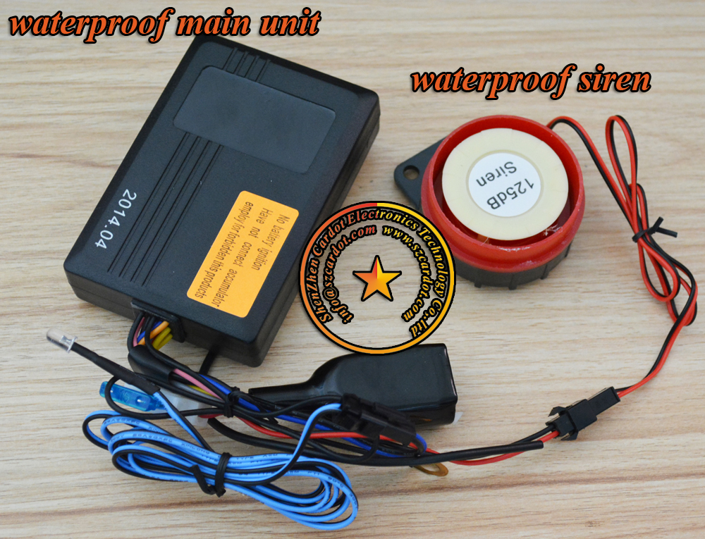 In stock  russian two way motorcycle alarm LCD remotes vibration and light alarm long distance remote anti-hijacking