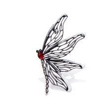 Cindy Xiang Baru 3 Warna Memilih Besar Enamel Kupu-kupu Bros untuk Wanita Vintage Hollow-Out Serangga Elegan Bros pin(China)