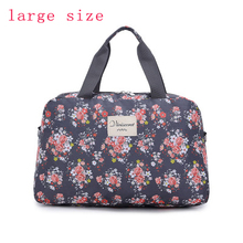 2016 New Fashion Women's Travel Bags Luggage Handbag Floral Print Women Travel Tote Bags Large Capacity PT558(China (Mainland))