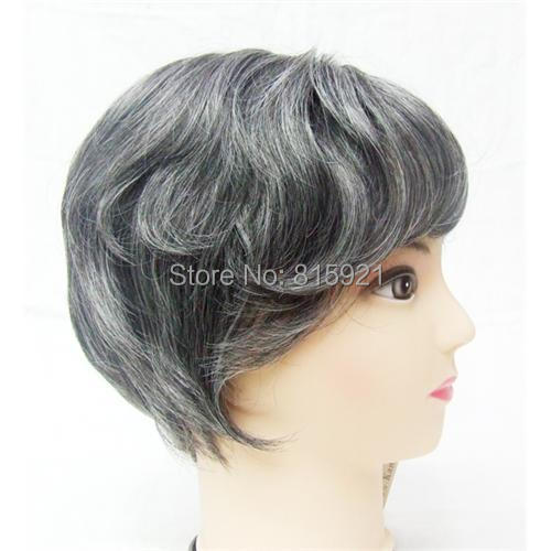 Quality Human Hairpiece Natural Looking Gray Hair Piece Toupee Men - EJS Shop store