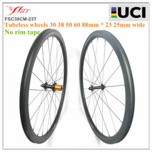 Hot sell No outer holes clincher carbon wheels 30 38 50 60 88mm tubeless wheelset 23mm 25mm wide Farsports road bike wheel EDhub(China (Mainland))
