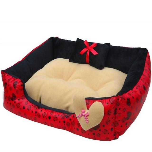 Cute Dog Pillow Beds : 2015 Hot Sales Cute Double Pillow Pet Dogs Beds Super Soft Material Warm Dog House 52*45CM Pet ...