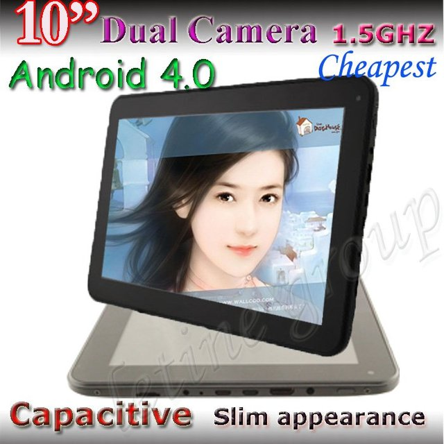 Free shipping dual camera 1GHZ 1G/16GB Allwinner A10 Cortex A8 HDMI Android 4.0 10 inch capacitive tablet pc