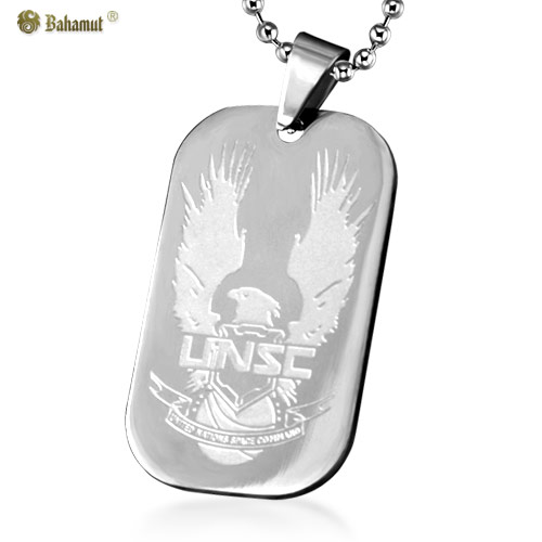 Bahamut Special Version Halo UNSC Dog Tag Pendant Necklace - Titanium Steel(China (Mainland))