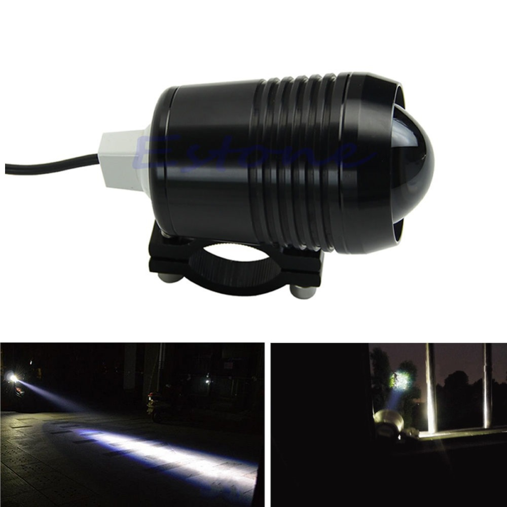 Free shipping Motorcycle 12V 30W CREE U2 LED Fog Spot Head Light Waterproof Working Lamp Black(China (Mainland))