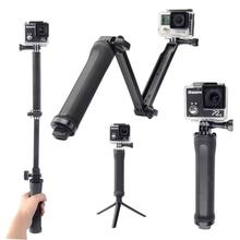 New Go Pro Accessories 3 Way Monopod Grip Extension Arm Tripod Mount For action camera Gopro hero 4 2 3 3+ SJ4000 SJ500