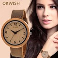 Good looking Vintage High quality Wood Grain Watches Fashion Women Quartz Watch Wristwatches Gift