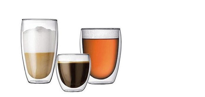 Beer /Wine Tea Cup Double Wall Glass Tea Cup 3pcs Different Size ,250ml+350ml+450ml,Coffee Tea Cup,100% Handmade(China (Mainland))