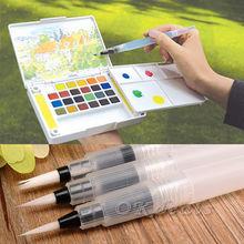 3 pcs Sakura Water Brush Watercolor Art Paint Brush nylon hair painting brush Self Moistening Calligraphy Pen (China (Mainland))