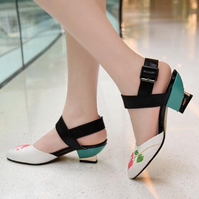 ENMAYER Size 34-39 Sexy High Heels Sandals Platform Shoes Pumps Womens Sandals Dress Fashion Wedding shoes Sandals lady Pumps<br><br>Aliexpress