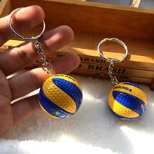 10 piezas PVC voleibol llavero deporte llavero regalo coche bola llavero anillo para equipo deportivo para hombres y mujeres llavero regalo de cumpleaños(China)