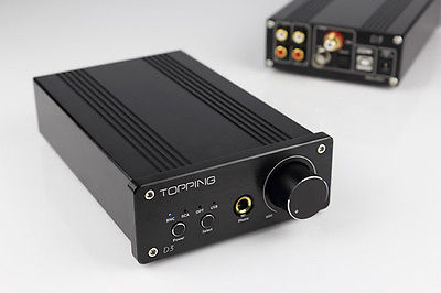 New Version Topping D3 24Bit 192kHz USB Optical Coaxial BNC DAC Headphone Amp Amplifier Black(China (Mainland))