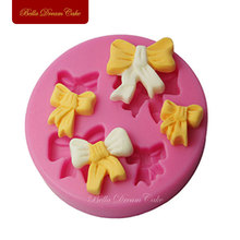Four Bowknot Silicone Cake Mold For Decorating Chocolate Baking Tools Kitchen Accessories Soap Mould SM-261