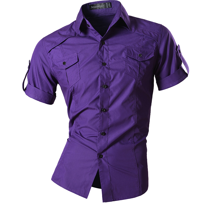 2016 mens fashion dress shirts short sleeve casual shirt for Mens short sleeve dress shirts slim fit
