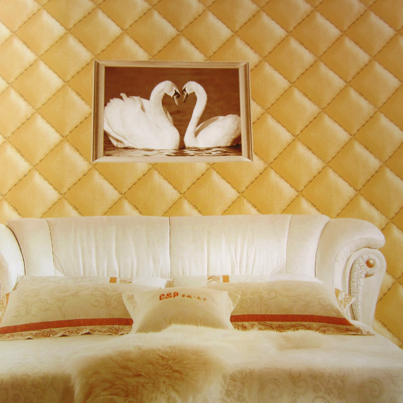 Luxury wallpaper 3d fashion leather wall paper roll living for Wallpaper roll for walls