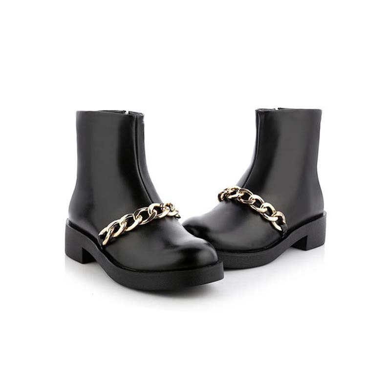 2015-Factroy-On-Sale-Genuine-Leather-Martin-Boots-Warm-Platform-Women-Boots-Fashion-Ladies-Shoes-Chains