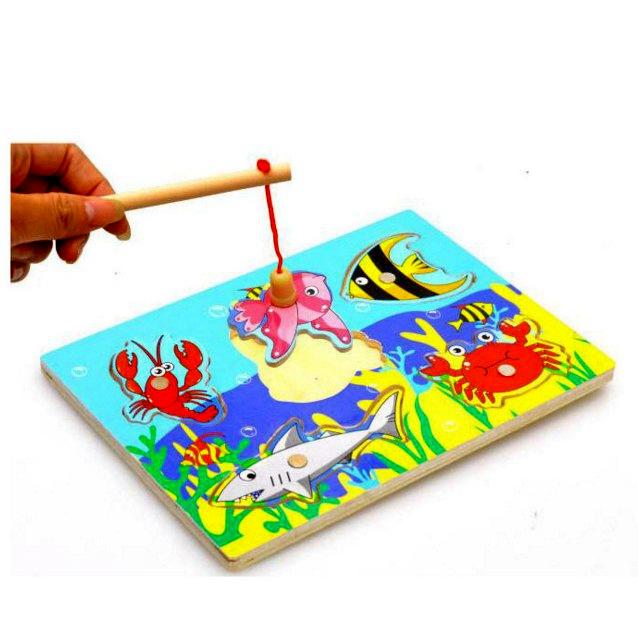 деревянная игрушка рыбалка для детей