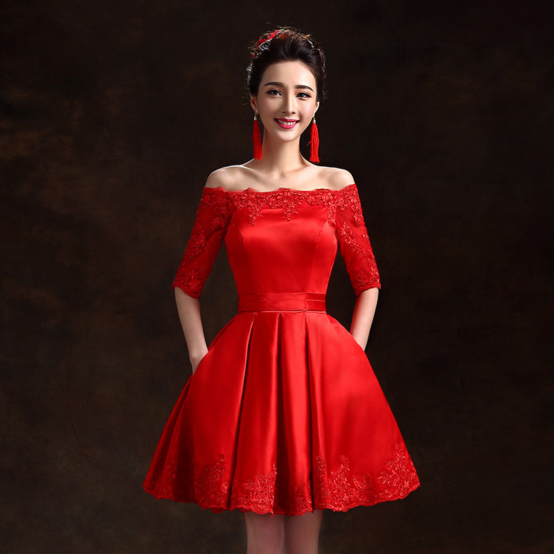 pics for gt red lace cocktail dress with sleeves