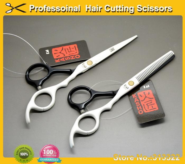 : 6 inch Kasho Brand Barber Scissors, Razor Scissor,hairdressing Scissors,Hair Cutting Shears beauty case 440C - SOHO s Store store
